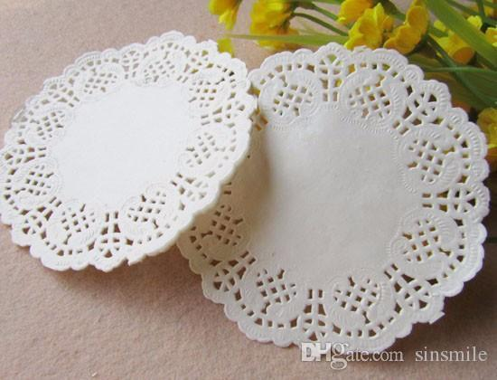"""Wholesale-Free Shipping Creative Craft 4.5"""" Inch Round White Paper Lace Doilies Cake Placemat Party Wedding Gift Decoration 100pcs/pack"""