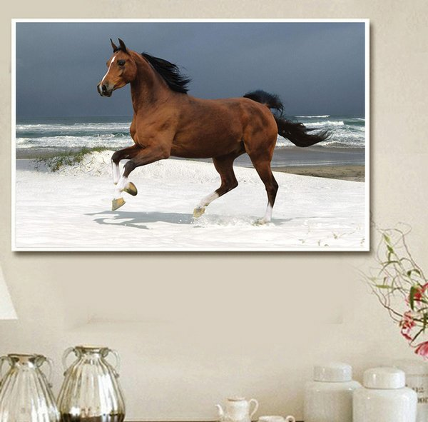 The horse mountain painting DIY 5D diamond color painting color cross embroidery inlaid diamond home living room