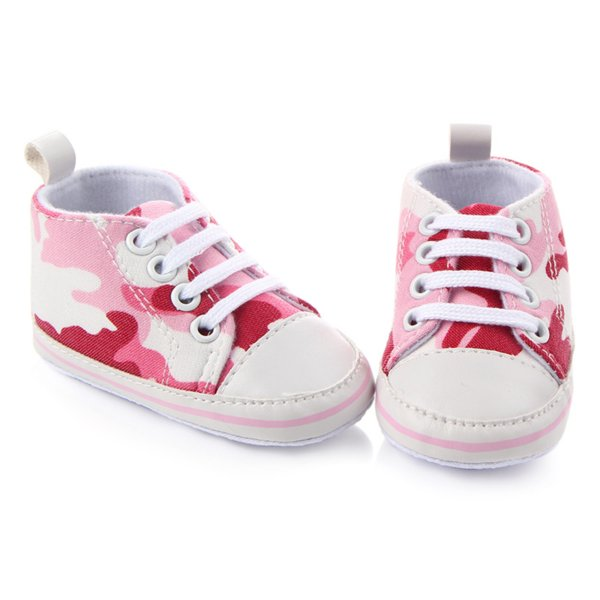 New Arrival Casual Baby Boys Girls Shoes Camouflage Canvas Lace-UP Non-Slip Prewalker Sneakers Toddler Kids Shoes 0-18M