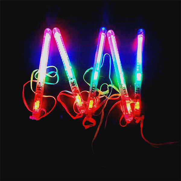 best selling Fast shipping 300pcs Multicolor Light-Up Blinking Rave Sticks LED Flashing Strobe Wands Concerts Party Glow Stick with good quality