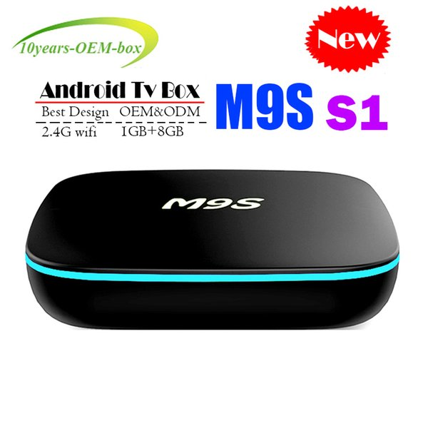 Factory OEM ODM New M9S S1 Android 7.1 Tv Box Quad Core 1GB 8GB H3 Chip Support Wifi 4K 3D Media Player Smart Tv Box Better MXQ PRO 4K S905W