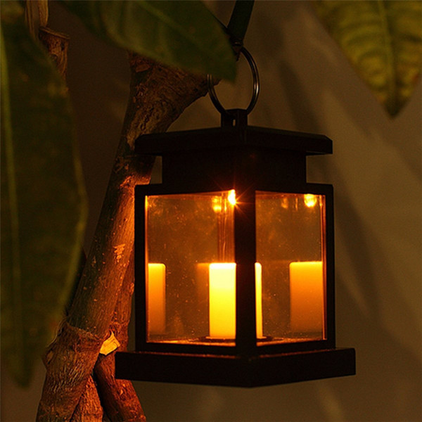 YWXLight Solar Powered LED Outdoor Candle Lantern Hang Lamp Outdoor Home Garden Yard Lawn Decoration Light Decoration