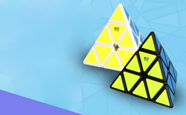 Decompression Toy triangle four sided Kids cube toy fast professional magic cube childrens puzzle strange shape toy wholesale free shipping