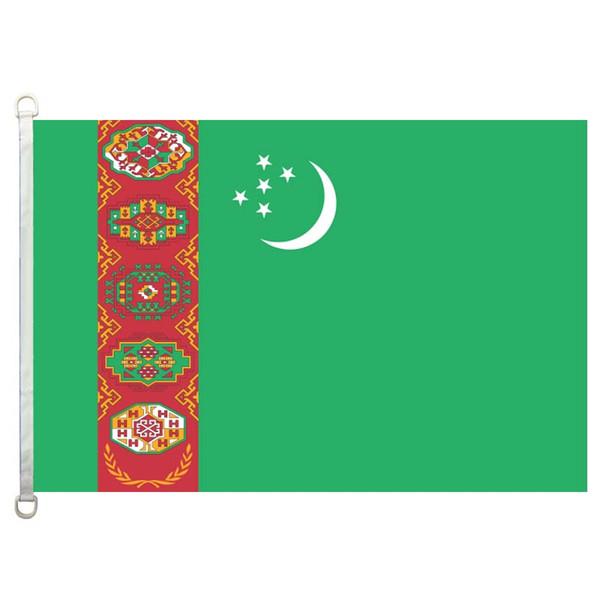 Флаг Туркменистана,90*150см ,100% полиэстер, баннер,цифровая печать