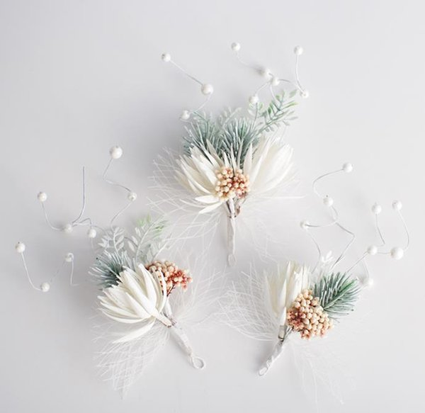 Bridal headwear Sen Sen Sen female super fairy wedding dress Princess sweet flower hairpin hair accessories