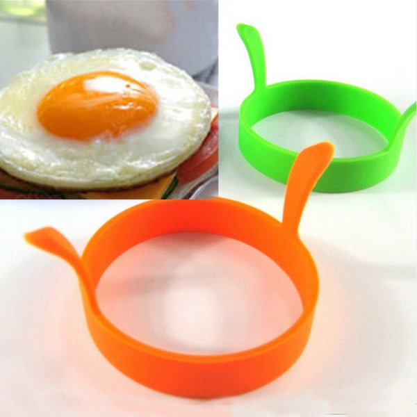 Silicone Egg Molds hot 1 Pc Random Color DIY Round Breakfast Pancake Cooking Tools Kitchen Accessories