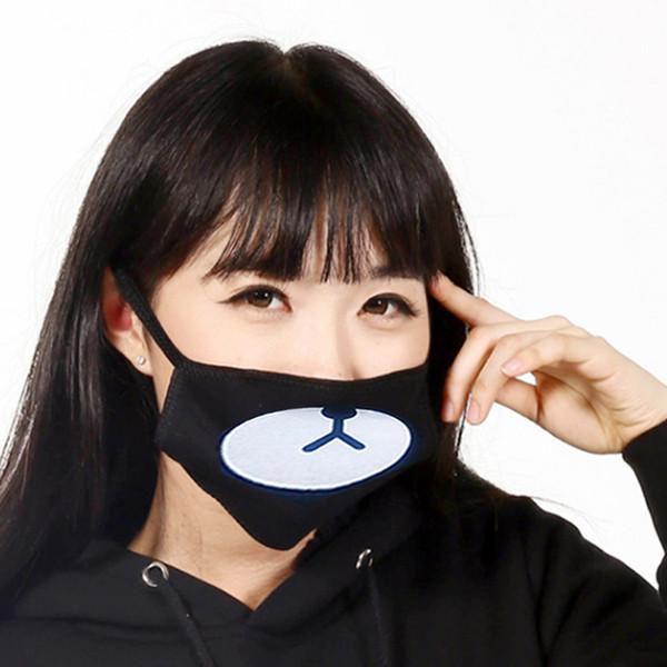 1pc Cute Bear Mouth Mask Cartoon Toy Fashion Black Anti-Dust Cotton Shade Kawaii Bear Plush Toy Suitable Travel Toys For Kids