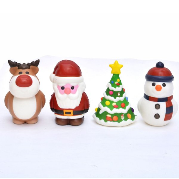 Kawaii Christmas.12 10cm Squishy Kawaii Christmas Tree Santa Claus Snowman Elk Squishies Toy Slow Rising Scented Squeeze Toy Home Decoration Xmas Gifts Novelty