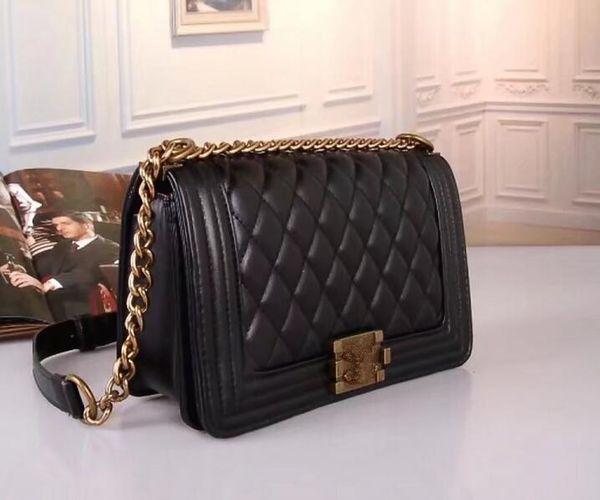 Brand Designer Women Genuine Leather Handbag Black Briefcase Laptop Shoulder Bag Messenger Bag