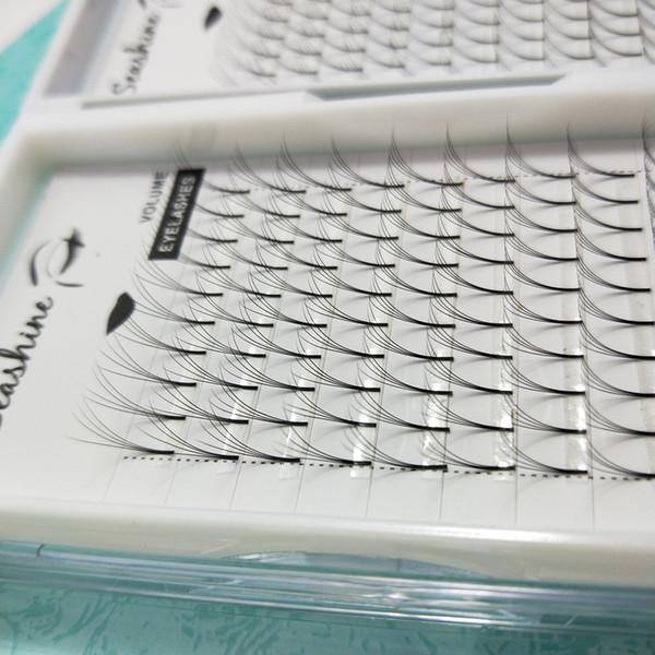 Seashine Premade Volume Eyelash Extension 4D Handmade C D Curl 8-15mm Support Customized Logo Blink Russian Soft Eyelashes