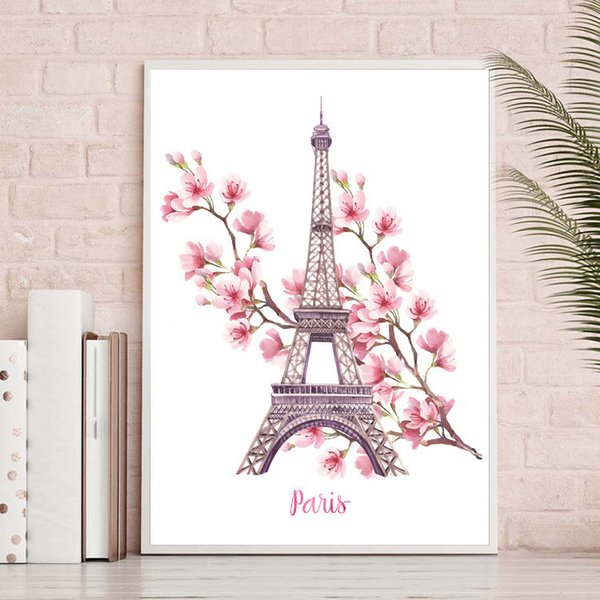2018 New Pattern Diamonds Painted Diamonds Embroidery Paris Iron Tower Stick Drill Cross Embroidery Slightly Simple Living Room Concise Mo