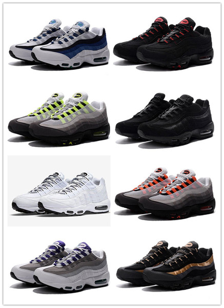 mens shoes 2017 New Cheap Mens sports 95 running shoes,Premium OG Neon Cool Grey sporting shoes sneakers size 40-46
