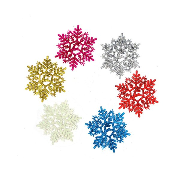 Romantic 6Pcs/Lot Xmas Classic Charming White Snowflake New Year Party Holiday Christmas Tree Decor Ornaments Festival Decoration