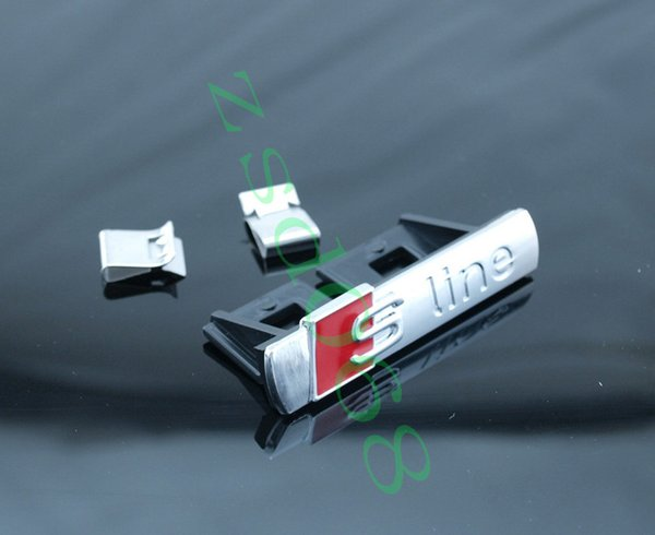 10 unids / lote Negro Mate Chrome Metal S line sline Car Grille Emblema Badge Sticker Sline car-styling Para A4 A6L A1 A3 Q5 A5