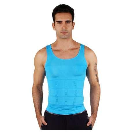 Men's Tight Slimming Body Shaper Vest Shirt Abs Abdomen Slim 7 Colors Classic Undershirt Correct Posture Body Slim N Life