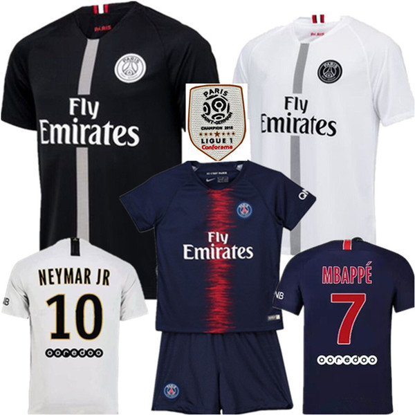 new arrival f6dff 18707 2019 2019 Paris Saint Germain NEYMAR JR #10 PSG Soccer Jersey 18 19 Mbappe  #7 Cavani #9 Verratti #6 Football Shirt WOMEN Man Uniform From ...