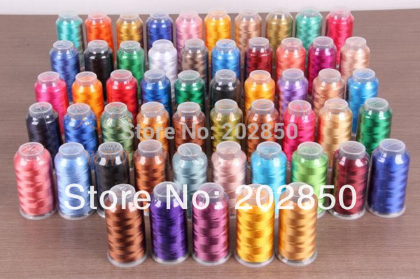 Free Shipping Computer Embroidery Sewing Machine Thread, 100% Viscose Rayon,2000Yard,low Tenacity,Super-gloss,Good to embroidery