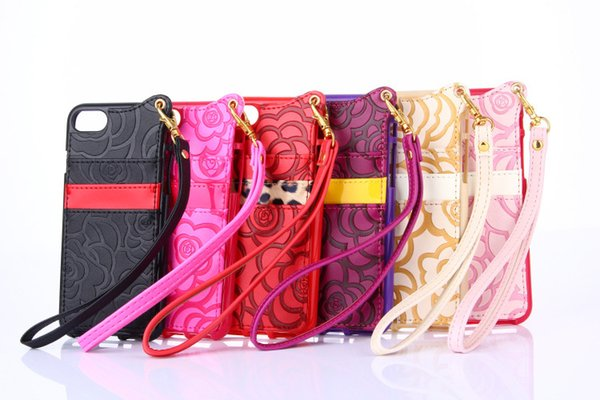 Luxury Lanyard Handbag Messenger Bag Style Flip PU Leathe Card Slot Phoner Case For iPhone 8 Plus 7Plus 6S 6s plus