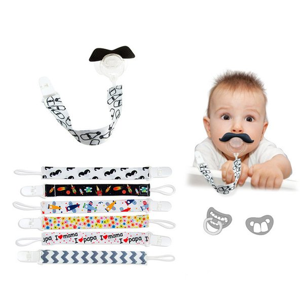 Baby Pacifier Clip Soother Chain Baby Boys Girls Pacifier Holder Loop Hang Rope Nipple Buckle Strap Holder Newborns Feeding