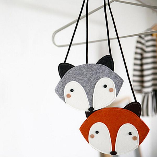 Crianças Mini Saco Crianças Saco De Moeda Fox Handmade Não-tecido Bolsa De Tecido