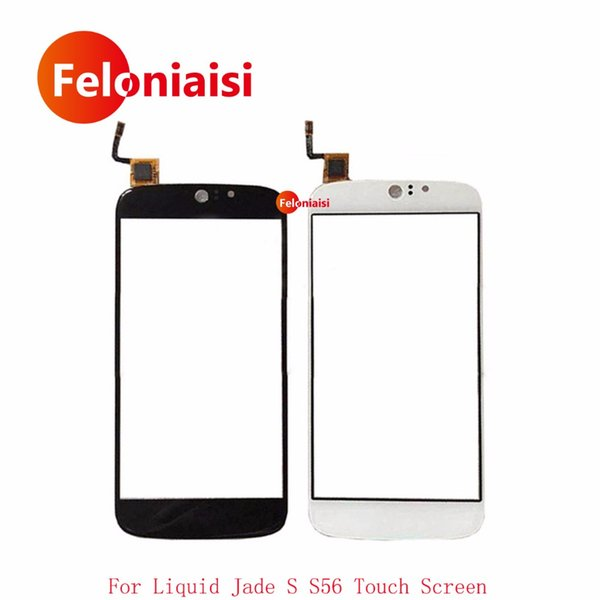 """10Pcs/lot High Quality 5.0"""" For Acer Liquid Jade S S56 Touch Screen Digitizer Sensor Outer Front Glass Lens Panel Black White"""