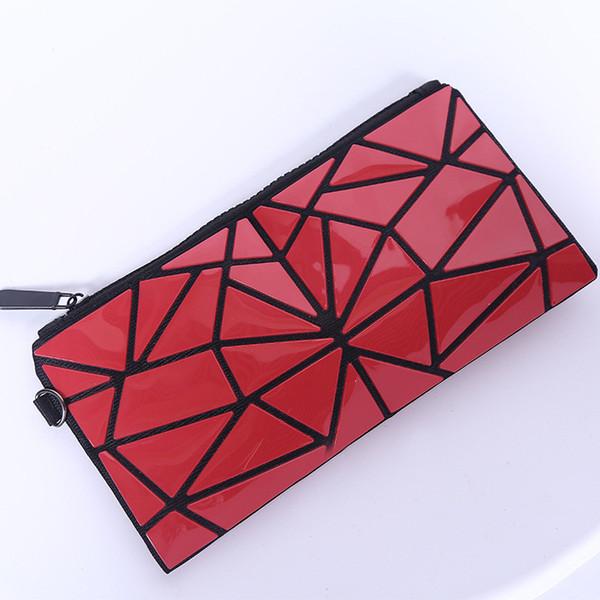 Nueva llegada monedero del diseñador para las mujeres de las señoras geométricas monedero plegable PVC bolso cosmético del maquillaje diseñador de la moneda monederos