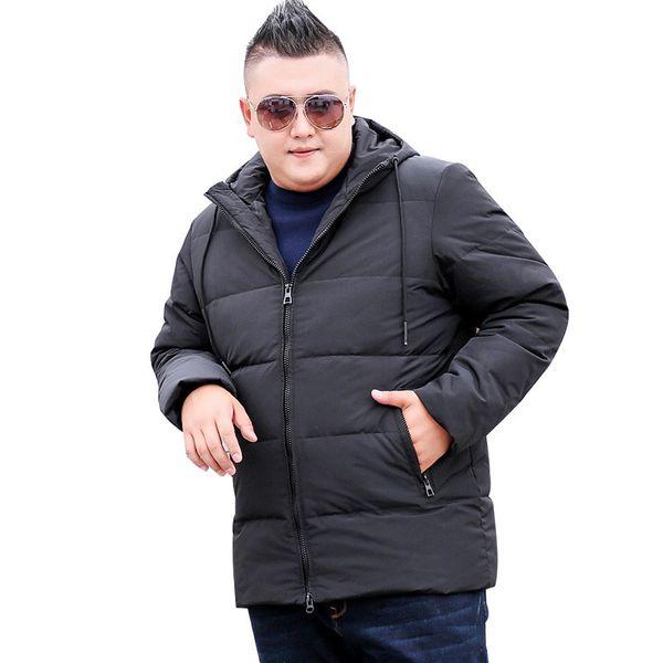 2018 новый зимний парк с капюшоном куртка мужская теплая черная куртка мода повседневная мужская ветровка размер XL 8XL 9XL-10XL