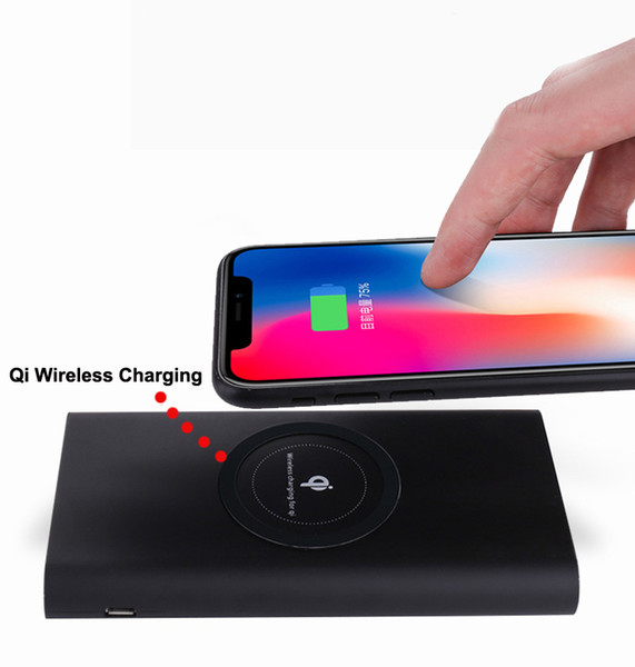 2018 New Products Wireless Charger Power Bank with double Qi function