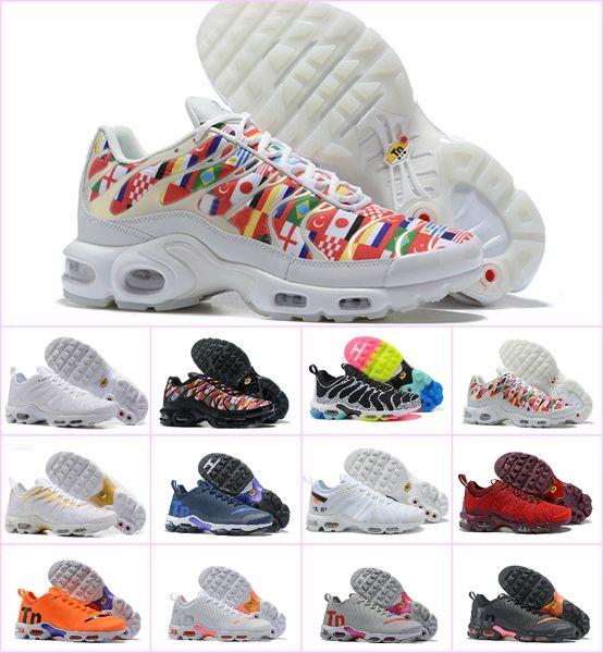 2018 VaporMax AIR TN Plus NIC QS 90 International Flag Men Women Running shoes World Cup Limited NIC QS Sneakers 270 Maxes shoes Tns