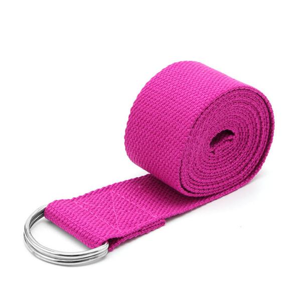 Adjustable Resistance Band Exercise Sport Stretch Strap D-Ring Belts Gym Waist Leg Fitness Yoga Belt