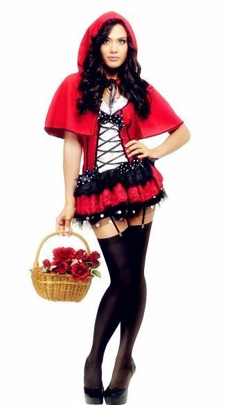 Ücretsiz Kargo Yeni sexy lingerie cosplay cosplay üniforma puf prenses elbise Kırmızı Başlıklı kız Üniforma Cadılar Bayramı Noel kostüm ...