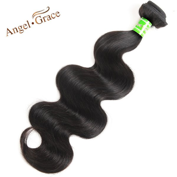 Angel Grace Hair Brazilian Body Wave Hair Bundles 10~28 Inch Natural Color 100% Human Weaving Free Shipping Remy