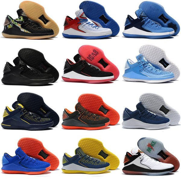 Discount Top Basketball Shoes 32 XXXII Trainer For men Weaves vamp North Carolina basketball boots blue Black Red Yellow Sneaker US 7-12