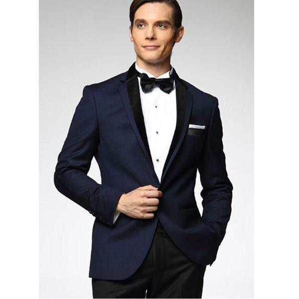 Customized new hot men's gentleman black suit two-piece suit (jacket + pants) men's business office formal suit