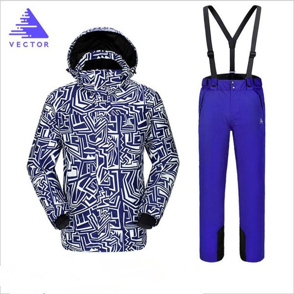 2018 Men Ski Suit Windproof Waterproof Outdoor Sport Wear Skiing Snowboard Jacket Pant Super Warm Clothing Trousers Male Suit