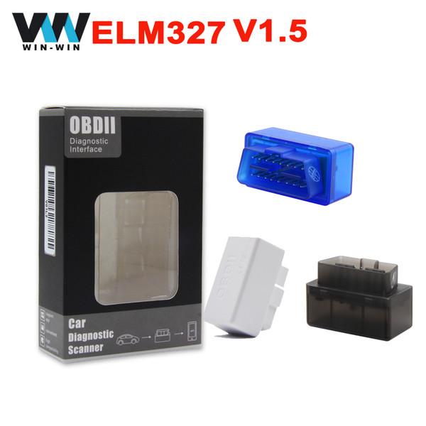 Support 12 languages Super Mini ELM327 Bluetooth v1.5 OBDII obd2 Scanner ELM 327 OBD2 diagnostic scanner for Android Torque/PC