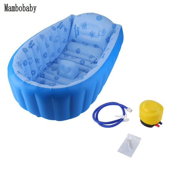 2018 Inflating Bath Tub for Toddlers Kid Inflatable Baby Bathtub Cartoon Safety