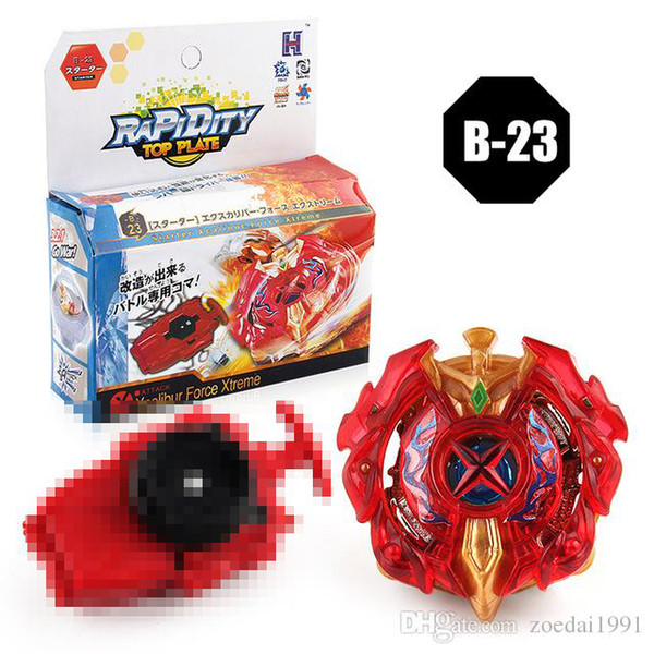 B-23 Metal Fusion Beyblade burst Top 4D Masters With Launcher For Children Christmas Hand spinner Toy 8 styles 3053 series