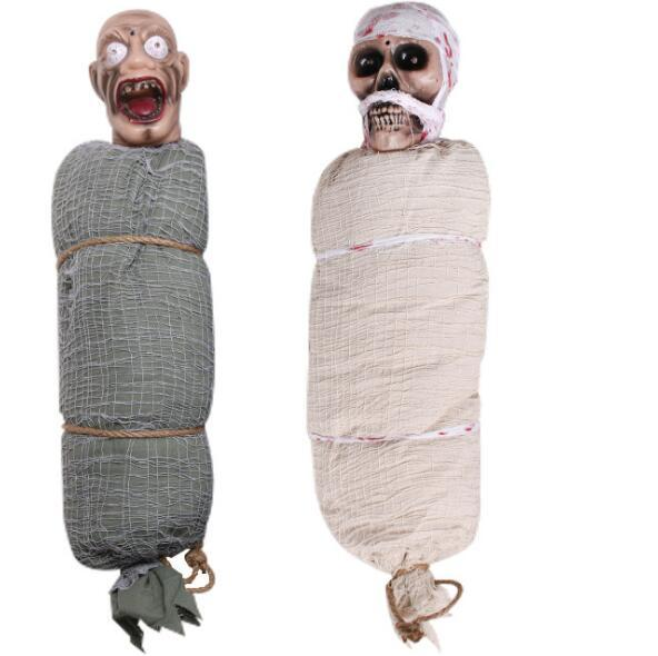 Hanging Skull Skeleton Halloween haunted house decoration horror pendant tree glue simulation model pendant site props