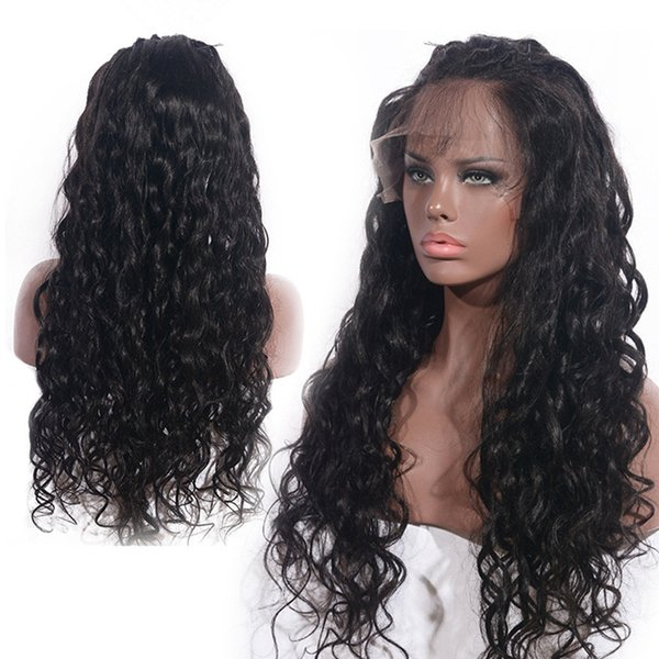 Zhifan Brand New 22 Polegada Longo Kinky Cabelo Encaracolado Laço Perucas Ondulado Cheia Do Laço Do Cabelo Humano Para As Mulheres Negras