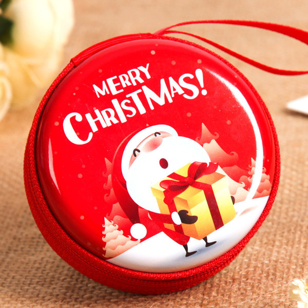 Christmas Santa Claus Snowman Mini Tin Box Sealed Jar Packing Boxes Christmas Candy Gift Box Kids Gift Random Style Delivery