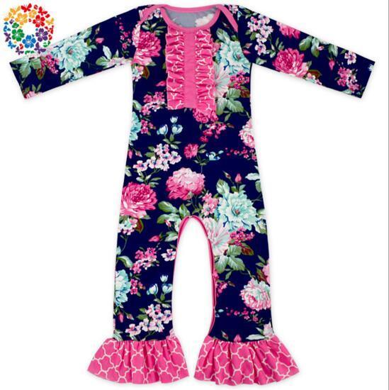 Herbst Baby Strampler Langarm Mädchen Boutique Overall Onesies Kleidung Baby Halloween Pyjamas One Piece Baby Strampler