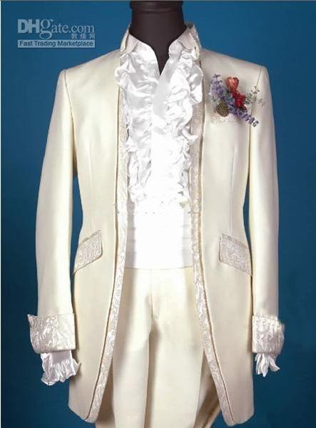 Custom Made New Design Groom Tuxedos Groomsmen Men Blazer Wedding Clothing Business Suits (Jacket+Pants+Girdle) 264
