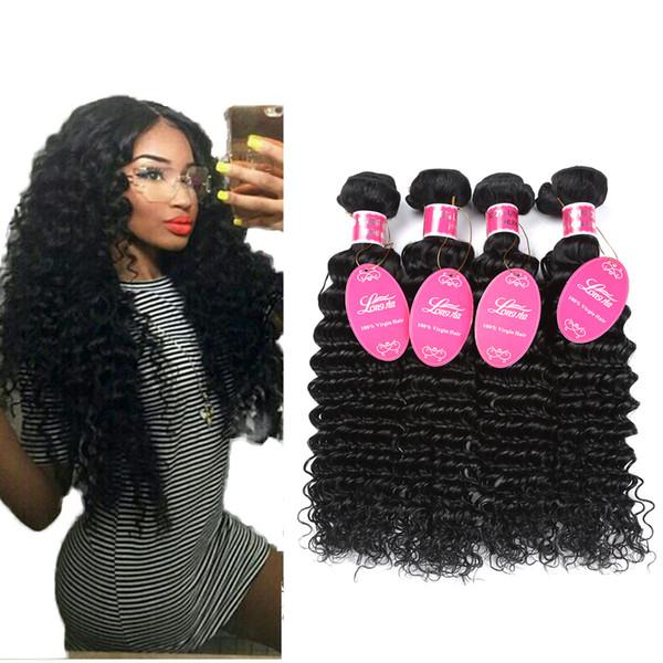 Wholesale 8A Brazilian Virgin Hair Deep Wave Cheap Curly Weave Wet and Wavy Human Hair 3 or 4 Bundles Brazilian Human Hair Extensions