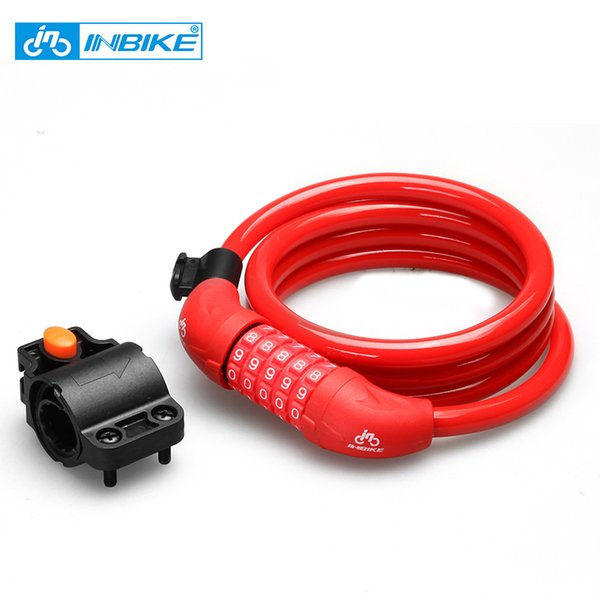INBIKE Bicycle Lock 1.8m Bike Cable Lock Anti-theft with 3 Keys Bicycle Accessories llaveros bisiklet cadeado chave D16719