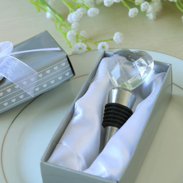 Cristal en forme de coeur bouchon de vin faveurs de mariage et cadeaux vin bouteille décapsuleur bar outils Souvenirs pour la fête de Pâques gratuit DHL 645