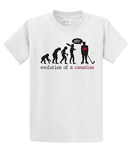 Entwerfen Sie Ihr eigenes Hemd Online Reguläre Männer Rundhalsausschnitt Kurzärmelige Quirky Evolution eines kanadischen T-Shirt