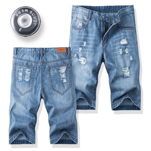 Summer Thin jeans Men's jeans Shorts Fashion casual Men's shorts Fashion High-end Denim Size 28-31 32 33 34 36 38