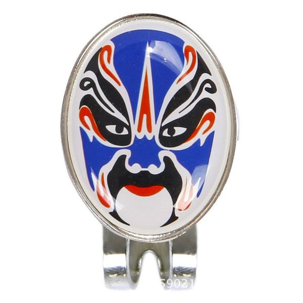 Magnetic hat removable metal Opera mask Golf clip this is an interesting sign set blue