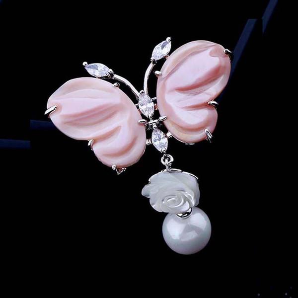 Red Tree Brand Jewelry Nuovo arrivo di alta qualità moda insetto forma spille a farfalla per le donne confezione regalo di Natale